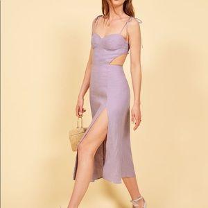 Reformation Lilac Alessa Dress